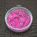 Bead, Seed beads, Glass, Magenta, Disc shape, 4mm, 25g, 275 Beads, (SSZ059)